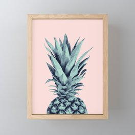 Blush Pineapple Dream #1 #tropical #fruit #decor #art #society6 Framed Mini Art Print