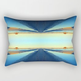Under Naples Pier Photographic Pattern #1 Rectangular Pillow