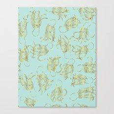 Gold Squid (Mint) Canvas Print