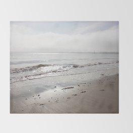 Broughty Ferry beach 5 Throw Blanket