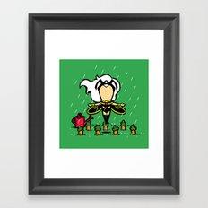 Part Time Job - Veggie Farm Framed Art Print