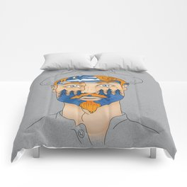 Forest Man Comforters