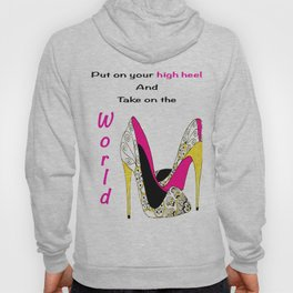 Girl Power Quote High Heels Hoody