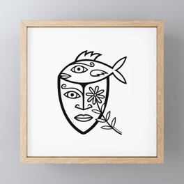 Fish Brains Framed Mini Art Print