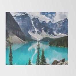 Lake Moraine Banff Throw Blanket