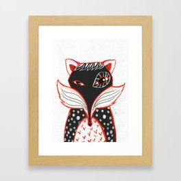 Kaleidoscope Fox Framed Art Print
