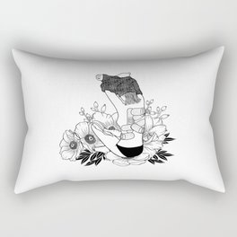 I'm not mad, I'm hurt Rectangular Pillow