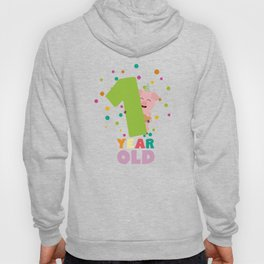 One Year first Birthday Party T-Shirt D80cw Hoody