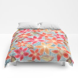 Cute Lilies and Leaves Comforters