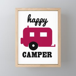 Happy Camper Framed Mini Art Print