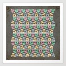 Triangulate 3 / Neon Midnight Art Print