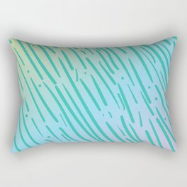 Rainbow Tiger Stripe Pattern - Inspired by the 90s Rectangular Pillow