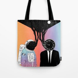 A Portrait of Space and Time ( A Study of Existence) Tote Bag