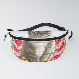 floral cat furniture Design by diegoramonart Fanny Pack