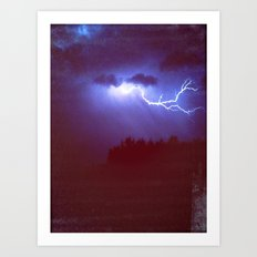 beautiful storm Art Print
