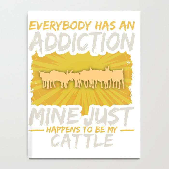 Cattle Addiction Funny Farm Animal Lover Notebook