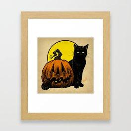 Still Life with Feline and Gourd Framed Art Print