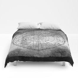 Old Metal Northern Constellation Map Comforters