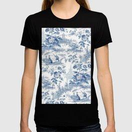 Powder Blue Chinoiserie Toile T-shirt