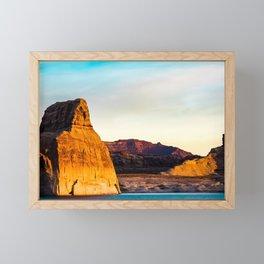Lone Rock. Glen Canyon. Utah. USA Framed Mini Art Print