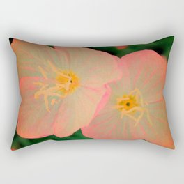 2 Tangerine Flowers | Flower | Nadia Bonello | Canada Rectangular Pillow