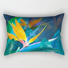 Bird of Paradise Under a Hawaiian Moon Rectangular Pillow