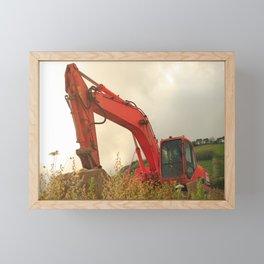 Construction machinery Framed Mini Art Print
