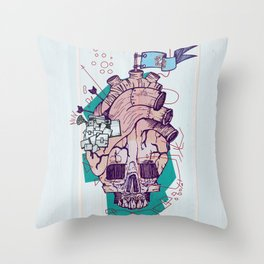 Skullheart Throw Pillow