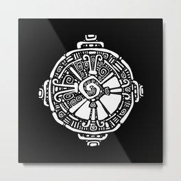 Hunab Ku.  Mayan symbol. Hand Drawn detailed pattern. Metal Print