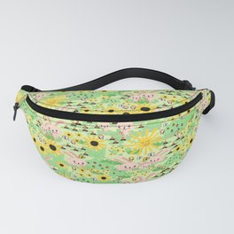 Cute Summer Bunnies Fanny Pack