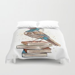 Steampunked Tui Duvet Cover