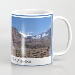 Panoramic view Aconcagua Provincial Park, Argentina Coffee Mug