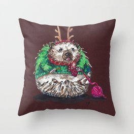Holiday Sweater Crochet Critter Throw Pillow