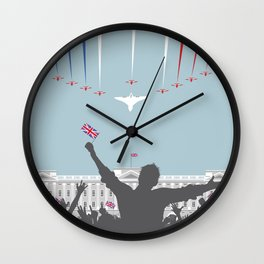 Concorde And The Red Arrows Flyover Wall Clock
