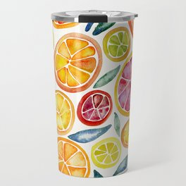 Sliced Citrus Watercolor Travel Mug