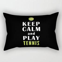 Keep Calm And Play Tennis Rectangular Pillow