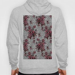 Vintage Roses and Spiders on Lace Halloweeen Watercolor Hoody