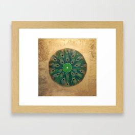 """Peacock Kaleidoscope"" Framed Art Print"