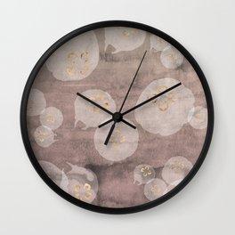 Rose Quartz Jellies Wall Clock