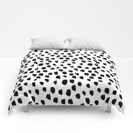 Hand drawn drops and dots on white - Mix & Match with Simplicty of life Comforters
