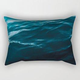 Minimalist blue water surface texture - oceanscape Rectangular Pillow