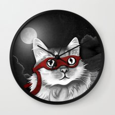 Mr. Meowgi Wall Clock