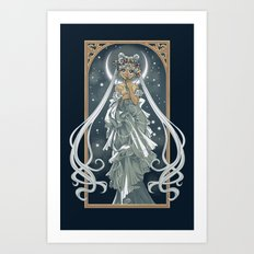 The Moon and Stars Art Print