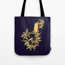 Banksia on Indigo Blue Botanical Illustration Tote Bag