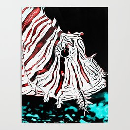 poisonous exotic lionfish va2s Poster
