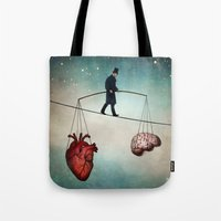 christian Tote Bags featuring The Balance by Christian Schloe