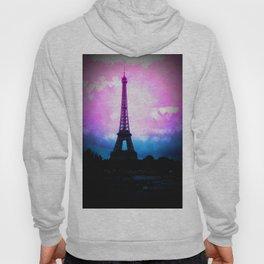 Paris Eiffel Tower Pink & Blue Hoody