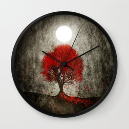 Red autumn. Wall Clock