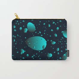 Large heavenly drops and petals on a blue background in mother of pearl. Carry-All Pouch