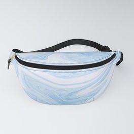 Blue Liquid Marble Fanny Pack